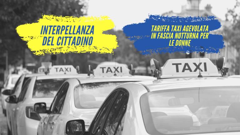 Tariffa taxi notturna agevolata